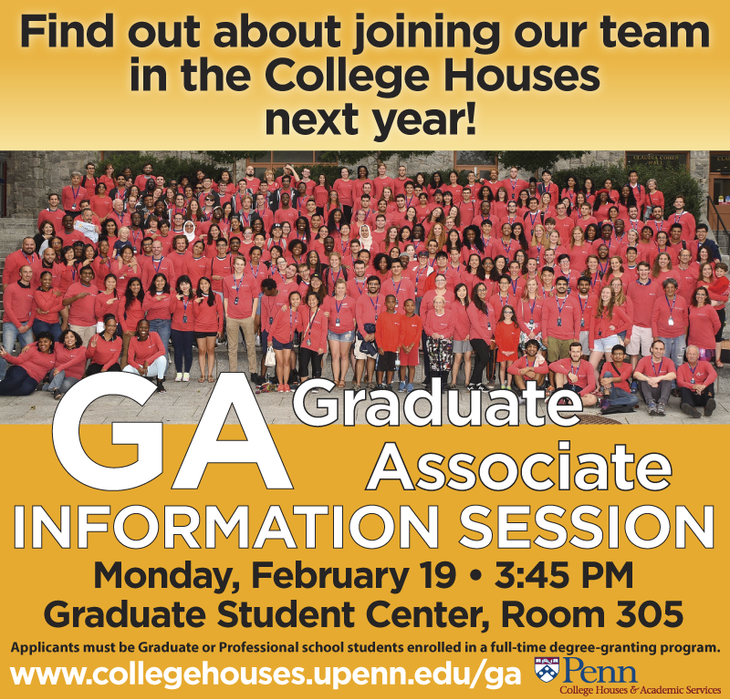 Information Session: February 19 at 3:45 pm, Graduate Student Center 305