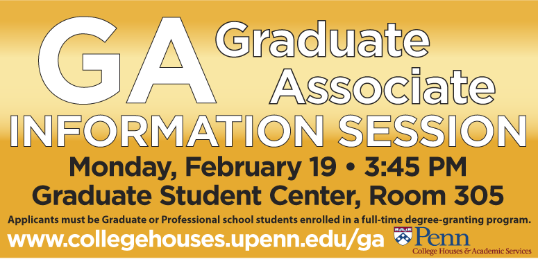 Information Session: February 19, 3:45 pm, Graduate Student Center Room 305