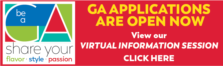 GA Applications are open now - View our Virtual Information Session - Click Here