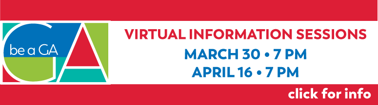 Virtual Information Sessions: March 30, 7 PM; April 16, 7PM. Click for more Info.