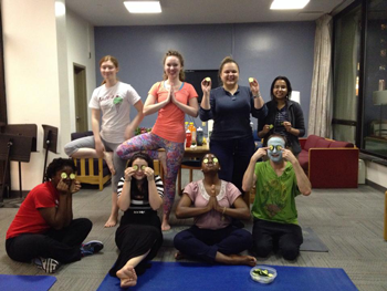 Yoga event at Stouffer