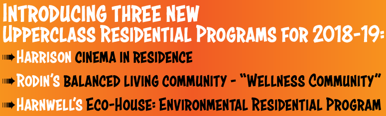 New residential programs for 2018