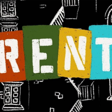 RENT theatrical logo