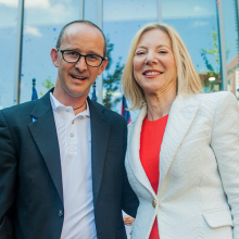 New College House Faculty Director, Prof. Cam Grey, with President Amy Gutmann at the New College House opening ceremony