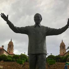 A statue of Nelson Mandela