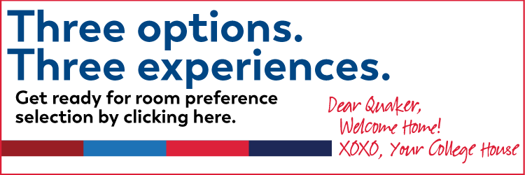 Three options. Three experiences.  Get ready for room preference selection by clicking here.