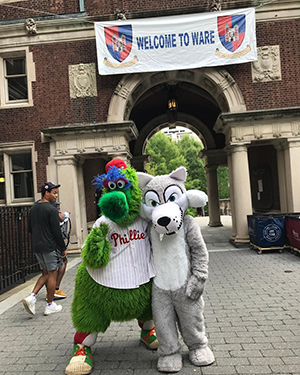 The Ware Wolf and the Philly Phanatic